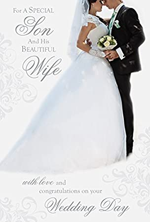 Son wife wedding day card amazon office products son wife wedding day card junglespirit Gallery