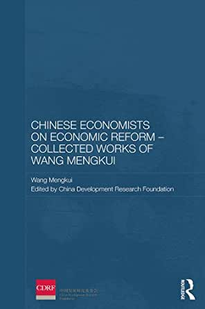 a research on chinese economic reform Buy chinese economists on economic reform  he was head of the political research office of the state council from 1975 and the first director of the economic.