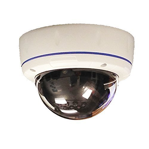 101AV 800TVL Outdoor D/N Dome Camera 1/3 inch SONY Effio-E CCD Effio-E 2.8-12mm VF Lens 100ft IR Range Dual Voltage 18pcs IR LEDs WDR OSD Menu Weather/Vandal proof Metal Housing High Resolution Color Wide Angle View for CCTV DVR Home Office Surveillance Secure System DC 12V AC 24V External Focus Adj White