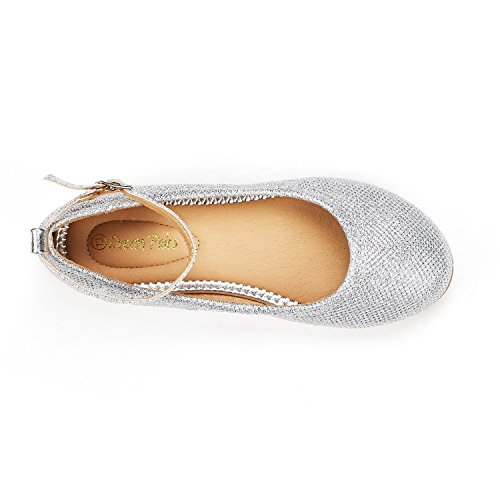 Pictures of DREAM PAIRS Little Kid Sole-Fina-K Silver Glitter 2 M US Little Kid 3