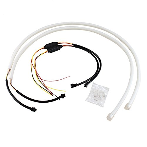 Amazon Com Toogoor Dual Color White Amber Car Switchback Led Tube