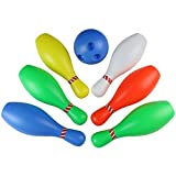 yoptote Bowling Set Bowling Game Plastic Bowling Ball set Educational Party Favors Toys 7 Piece Big Size for Kids Boys Girls 3 4 5 Years Old,Play Indoor Outdoor