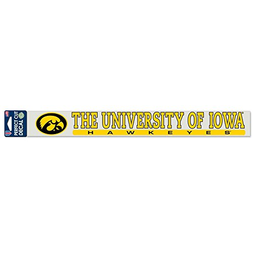 """WinCraft NCAA University of Iowa WCR31940014 Perfect Cut Decals, 2"""" x 17"""""""