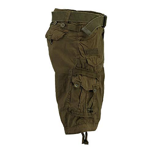 da basic uomo cachi color Pantaloni uomo Norway Pantaloncini cargo geografici 6xaPHT6w5q