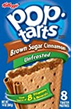 Kellogg's, Pop-Tarts, Unfrosted Brown Sugar Cinnamon, 8 Count, 14oz Box (Pack of 6)