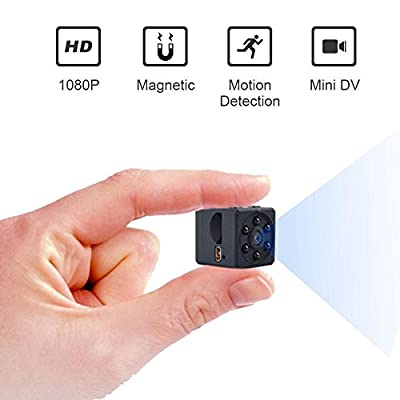 Mini Spy Hidden Camera, Leegoal 1080P Portable Small HD Sports Mini DV Video Recorder with IR Night Vision & Motion Detection, Perfect Indoor Covert Security Camera for Home and Office from Leegoal