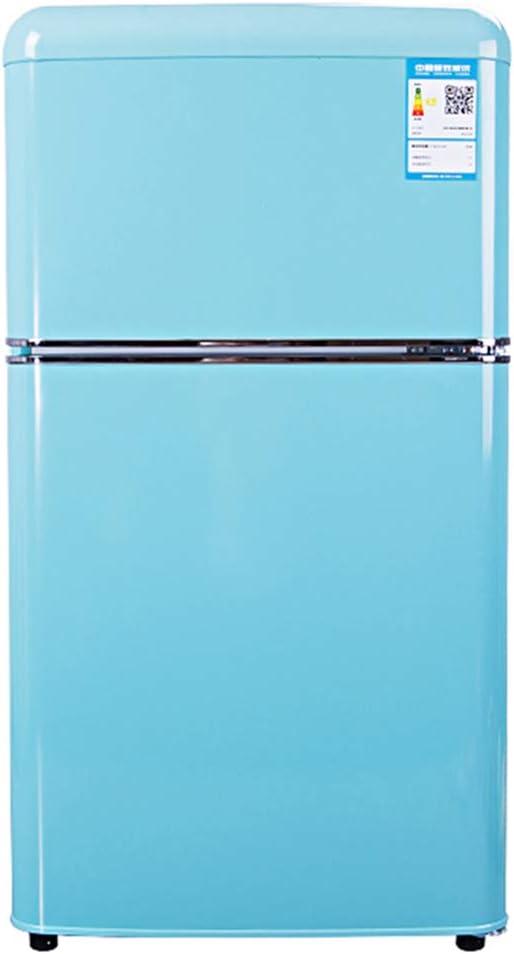 Refrigerador de Doble Puerta con congelador, Estilo Retro ...