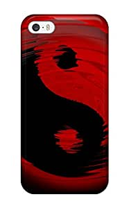 Fashionable Style Case Cover Skin For Iphone 5/5s- Black And Red