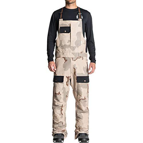 DC Men's Platoon Snow SKI BIB, Incense DCU camo Melon, S