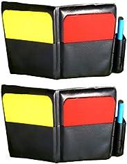 LIOOBO 2 Set Football Soccer Referee Card Sets Warning Referee Red and Yellow Cards Football Soccer Coach Acce