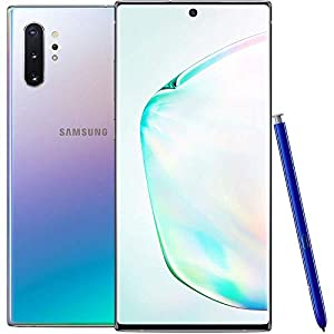 Samsung Galaxy Note 10+ N975F/DS 256GB, 6.8′ Dynamic AMOLED Screen, 12GB RAM, Quad Camera, 4K UHD Factory Unlocked LTE Smartphone – (International Version) (Aura Glow)