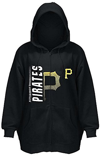 Majestic Pittsburgh Pirates MLB Womens Scrape Hoodie Black Plus Size - Hoody Pirates Pittsburgh Mlb
