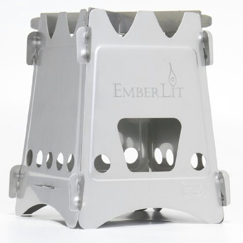 Emberlit Stainless Steel stove,Compact Design Perfect for Survival, Camping, Hunting & Emergency...