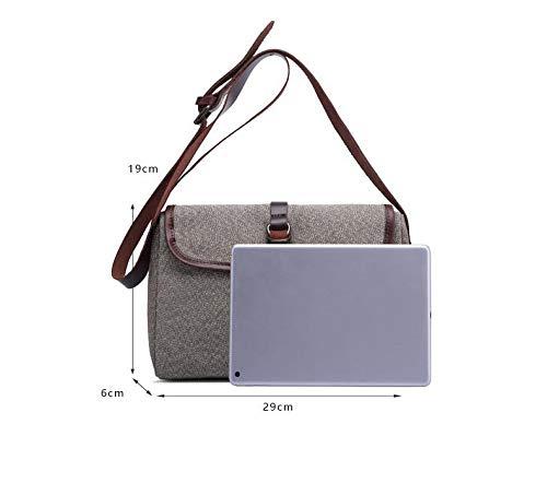 Ladies Bag Messenger Bag Hand Bag Traveling Work Bags Multifunctional Hiking Vintage Simple Fashion Business Handbag Bag Canvas Bags,Black ZCBDNB Messenger Bag