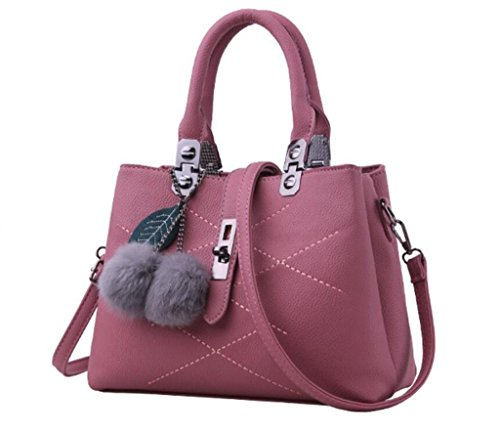 Fourrure Messenger Multiple Mode à De Simple Dame Bandoulière Compartiment Couleurs Fourrure Shopping SHOUTIBAO Main Sac Cinq Sac Quotidien pink Sac à O1xaY0