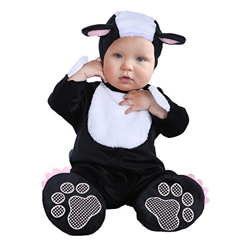Costumes for Baby Boys Girls,Infant Toddler's Kids Baby Cartoon Animals Dress Up Costume Halloween Outfit Jumpsuit (Skunk,S(60-70cm))