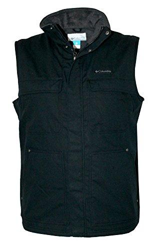 Columbia Men's Larix Park Water Resistant Fleece Lined Full Zip Vest (Black, XL)