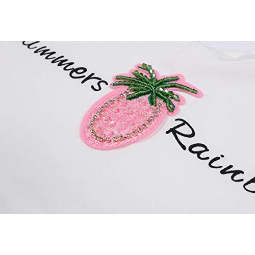 Da Pezzi 120cm T Size Morbido In Stampa color Pink Con 2 Cotone Maglietta Ananas Tutu E shirt Mallty Pink 1fwpq