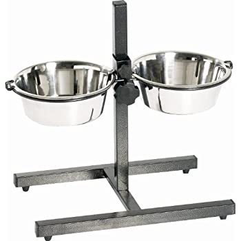 Amazon Com Indipets Adjustable Double Diner With 2