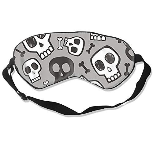 O-X_X-O Luxury 100% Double-Sided Silk Sleep Mask & Blindfold Super-Soft and Comfortable Eye Mask for Travel Nap Meditation Universal Size (Skulls and Bones Halloween) -