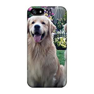 New Diy Design Golden Retriever For Iphone 5/5s Cases Comfortable For Lovers And Friends For Christmas Gifts by icecream design