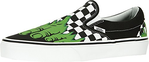 Vans Classic Slip-On (Marvel) Hulk/Checkerboard VN0A38F7U44 Mens 11, Womens 12.5 -