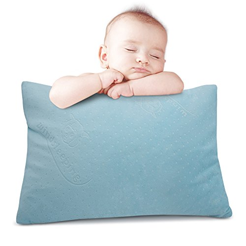 Windsleeping Latex Kids Toddler Pillow,13 x 18 inch, Pure Natural Latex,Soft Unisex Small Sleep Head Pillow, Comfort Little Sleepy Rest Pillow for Child Age 2+ (Sky Blue)