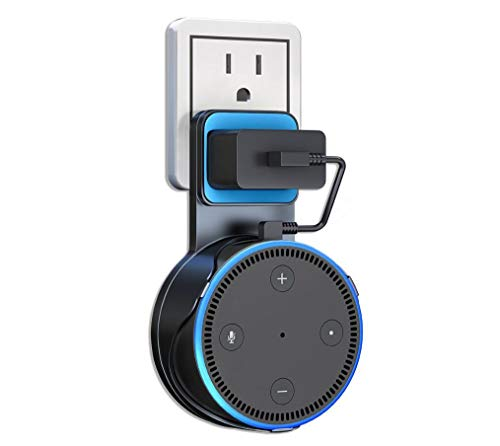 Wall Mount for Echo Dot, AutoSonic Wall Mount Compatible with Echo Dot 2nd Generation, A Space-Saving Solution for Smart Home Speakers, Charging Cable Included