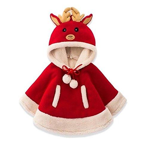 J Cole Halloween Costumes (Christmas Baby Girls Costume Cute Kids Elk Deer Coat Outwear Children Boy Winter Warm Performance Red 4T)
