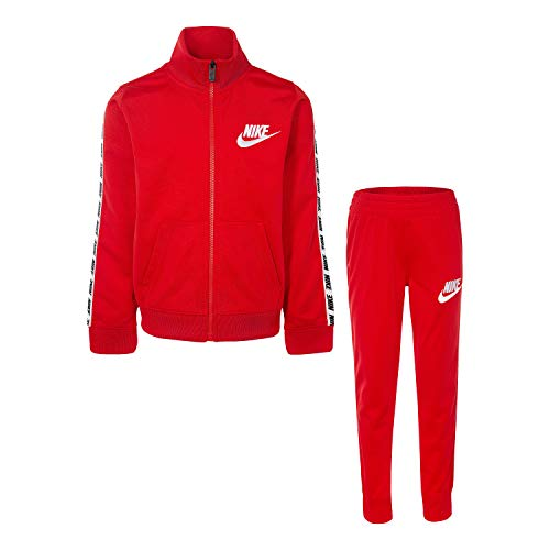 - Nike Baby Boys' Little Tricot Track Suit 2-Piece Outfit Set, University Red, 5