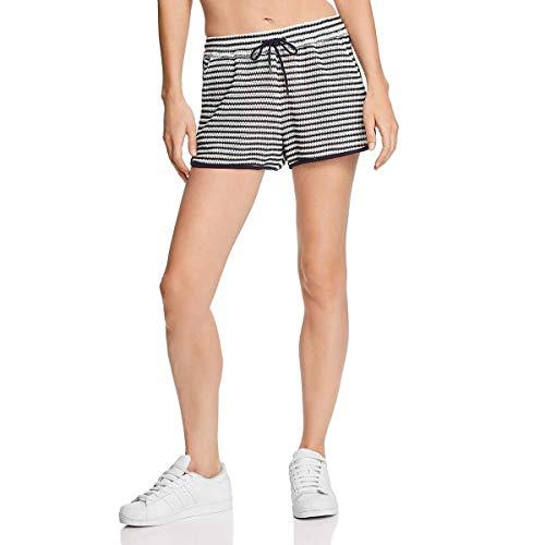 (Splendid Women's Drawcord Short, Navy/White, M)