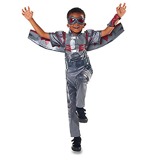 Captain America Costume Falcon (Disney Store Falcon Costume for Kids - Captain America: Civil War ~ Size)