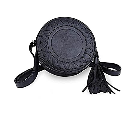 Kingken Mode Mini Rond Tassel Petit Sac de Sacs à Main bandoulière avec  bandoulière pour Femme 069f1e18f4d