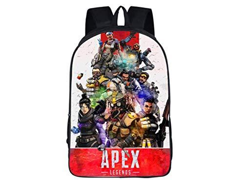 [해외]에이펙스 레전드 캐주얼 백팩 헤드폰 잭 젠더 뉴트럴 데이팩 더블 레이어 백 캔버스 와 사이드 포켓인테리어 지퍼 포켓 (에이펙스 2) / Apex Legends Casual Backpack with Headphone Jack Gender-neutral Daypacks Double-layer Bags Canvas with S...