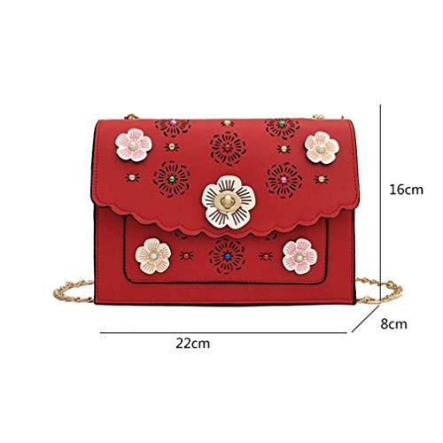 Yixin Bolso Cruzados Small Para Rojo Mujer rrdvxBw