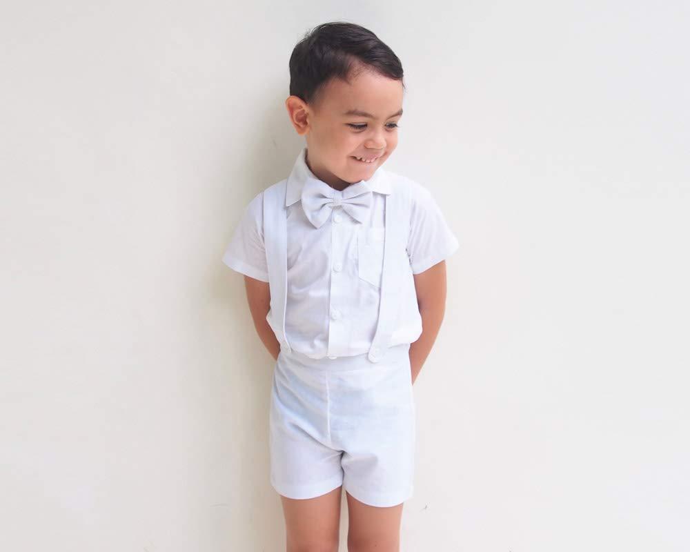 3pcs Baby boy linen set Page boy linen outfit Linen suspender pants set Beach wedding suit Christening outfit Baptism suit Sleeveless shirt
