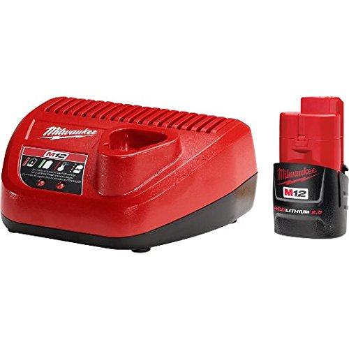 Milwaukee 48-59-2420 M12 Ct 2.0 Starter Kit,Red/Black