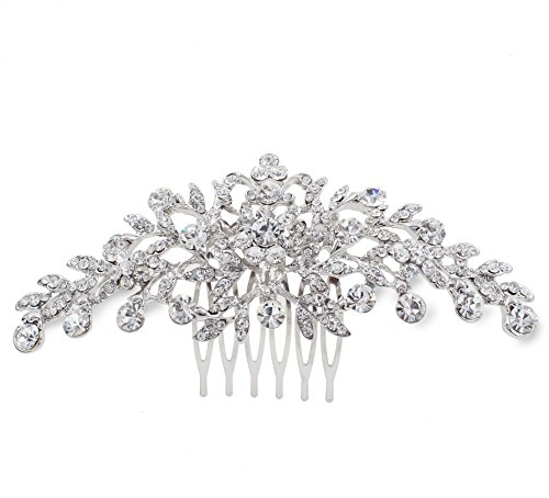 (C10 Clear Austrian Rhinestone Crystal Hair Comb Wedding Tiara Bridal Party Gift)