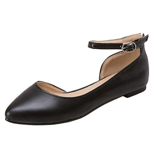 COOLCEPT Women Bequeme Flach Pumps Schuhe Black