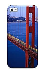 Iphone 5c Hard Case With Awesome Look Golden Gate Bridge
