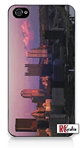 Pittsburgh, PA Awesome Skyline Iphone 4 Quality TPU SOFT RUBBER Snap On Case for Iphone 4 - AT&T Sprint Verizon - White Case