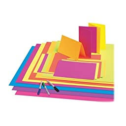 Pacon 54071 Poster Board,Fade-Resistant,28 in.x22 in.,25/CT,Neon Hot Pink