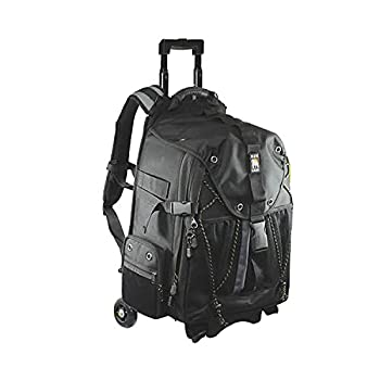 Image of Ape Case, ACPRO4000, Backpack with wheels, Laptop compartment, Padded, Rain cover included, Adjustable straps, Camera backpack, Black (ACPRO4000)