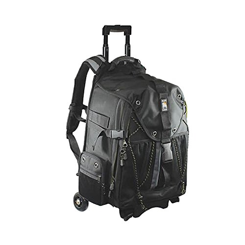 Ape Case, ACPRO4000, Backpack with wheels, Laptop compartment, Padded, Rain cover included, Adjustable straps, Camera backpack, Black (ACPRO4000) by Ape Case
