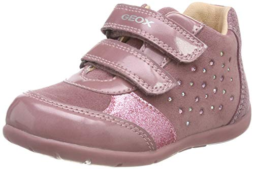 Image of Geox Kaytan Girl 45 Sparkle Bootie Sneaker, Dark Pink, 21 Medium EU Toddler (5.5 US)