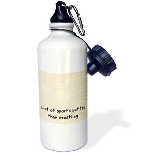 3dRose wb_200789_1 List Of Sports Better Than Wrestling Sports Water Bottle, Multicolor, 21 oz by 3dRose