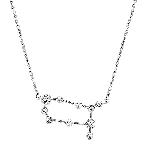 - Sterling Forever Gemini Constellation Necklace - ?When Stars Align' Constellation Necklace, Silver Plated, Women?s Zodiac Necklace