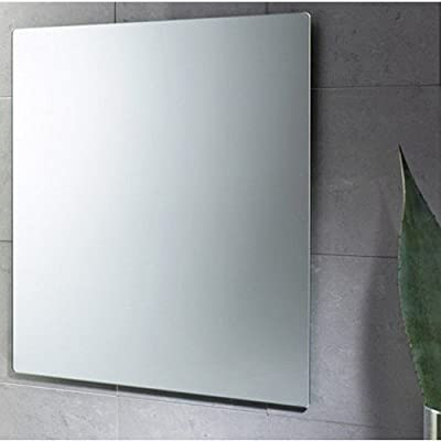 "Gedy 2550-13 Planet Horizontal/Vertical Wall Mounted Mirror, 9.5"" L x 23.6"" W, Polished - Gedy wall mounted vanity mirror H: 27.6 x W: 23.6 From the planet collection - bathroom-mirrors, bathroom-accessories, bathroom - 41igneweiCL. SS400  -"