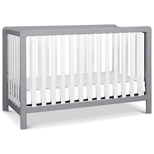 Carter's by DaVinci Colby 4-in-1 Low-Profile Convertible Crib in Grey and White   Greenguard Gold Certified