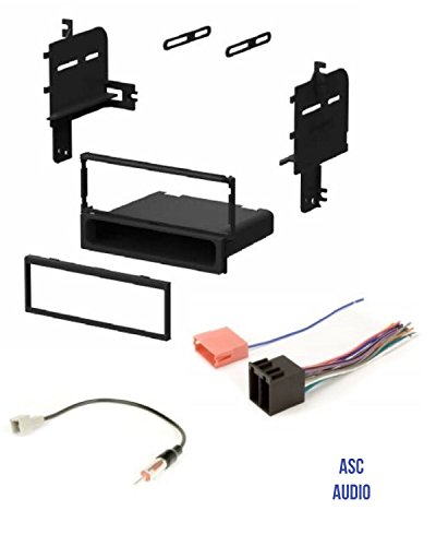 ASC Car Stereo Radio Install Dash Kit, Wire Harness, and Antenna Adapter for installing an Aftermarket Single Din Radio for 2009 2010 2011 Hyundai Accent , 2009 - 2011 Kia Rio / Rio 5